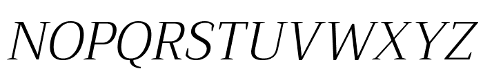 Trirong 300italic Font UPPERCASE