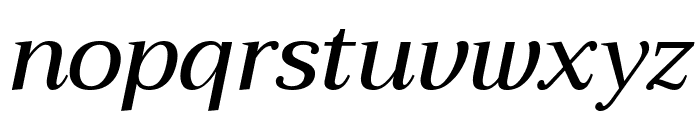 Trirong 500italic Font LOWERCASE