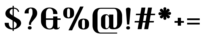 Trochut 700 Font OTHER CHARS