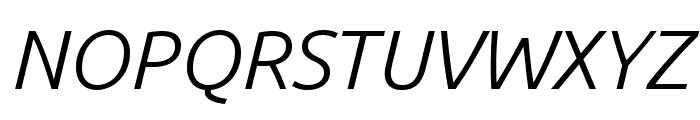 Ubuntu 300italic Font UPPERCASE