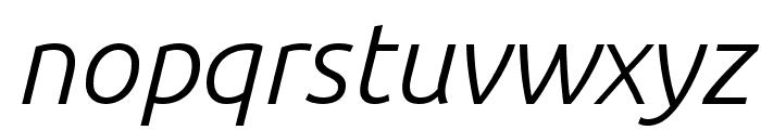 Ubuntu 300italic Font LOWERCASE