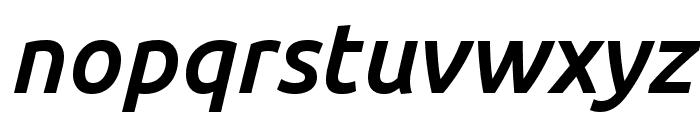 Ubuntu 500italic Font LOWERCASE