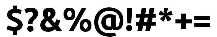 Ubuntu 700 Font OTHER CHARS