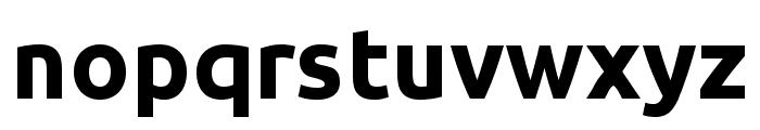 Ubuntu 700 Font LOWERCASE