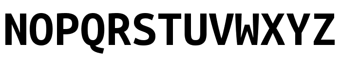 Ubuntu Mono 700 Font UPPERCASE