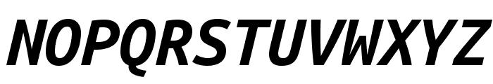 Ubuntu Mono 700italic Font UPPERCASE