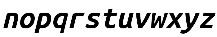 Ubuntu Mono 700italic Font LOWERCASE