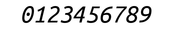 Ubuntu Mono italic Font OTHER CHARS