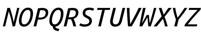 Ubuntu Mono italic Font UPPERCASE