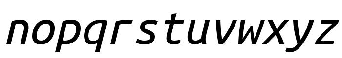 Ubuntu Mono italic Font LOWERCASE