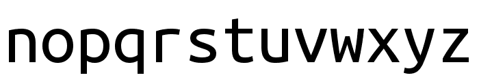 Ubuntu Mono regular Font LOWERCASE