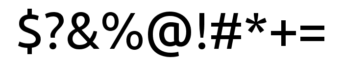 Ubuntu regular Font OTHER CHARS