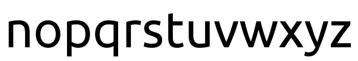 Ubuntu regular Font LOWERCASE