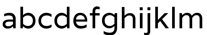 Varela regular Font LOWERCASE