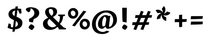 Vesper Libre 700 Font OTHER CHARS