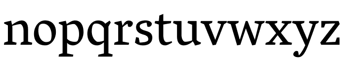 Vesper Libre regular Font LOWERCASE