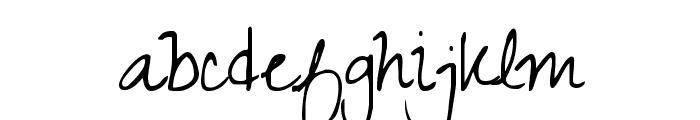 Zeyada regular Font LOWERCASE