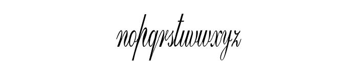 GoldenGate-ExtracondensedItalic Font LOWERCASE