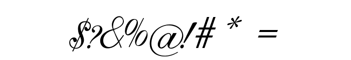 GoldenGate-Italic Font OTHER CHARS