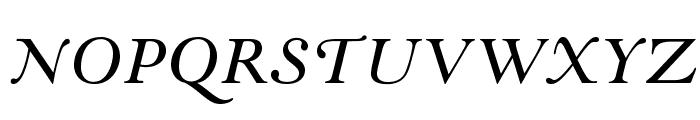 GoudyModernMTStd-Italic Font UPPERCASE