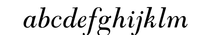 GoudyModernMTStd-Italic Font LOWERCASE