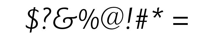 GoudySansStd-BookItalic Font OTHER CHARS