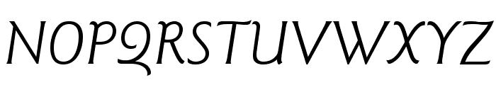 GoudySansStd-BookItalic Font UPPERCASE