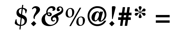 GoudyStd-BoldItalic Font OTHER CHARS