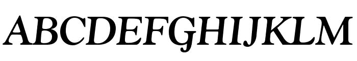 GoudyStd-BoldItalic Font UPPERCASE