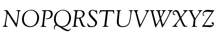 GoudyStd-Italic Font UPPERCASE
