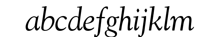 GoudyStd-Italic Font LOWERCASE