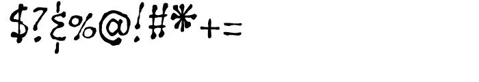 Gobbler Regular Font OTHER CHARS