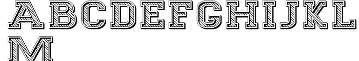 Goldbarre Regular Font UPPERCASE
