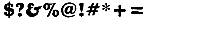 Golum Regular Font OTHER CHARS