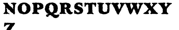 Golum Regular Font UPPERCASE