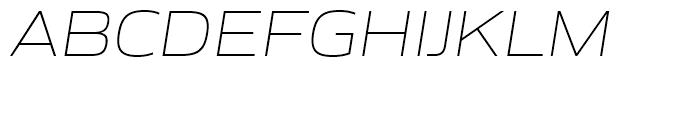 Gomme Sans Extra Light Italic Font UPPERCASE