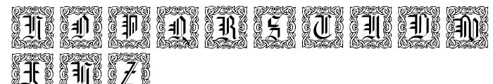 Gothic 16 CG Decorative Font UPPERCASE