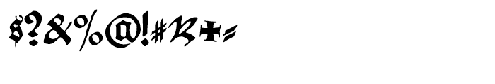 Gothicus Regular Font OTHER CHARS