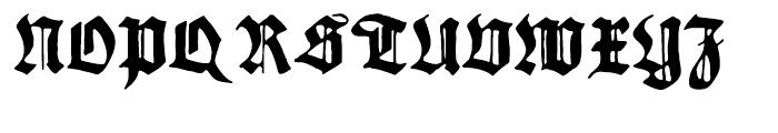 Gothicus Regular Font UPPERCASE