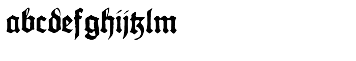 Gothicus Regular Font LOWERCASE
