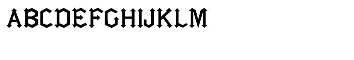 Gotica Moderna Regular Font UPPERCASE