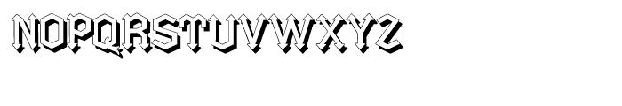 Gotica Moderna Shadow Font UPPERCASE