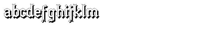 Gotica Moderna Shadow Font LOWERCASE