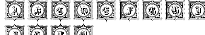 Gotische Frames Font UPPERCASE