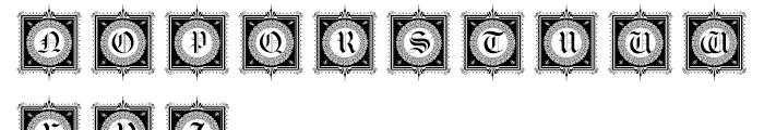 Gotische Frames Font LOWERCASE