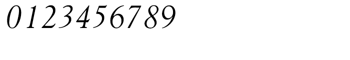 Goudy 38 Light Italic Font OTHER CHARS