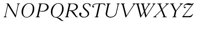 Goudy 38 Light Italic Font UPPERCASE