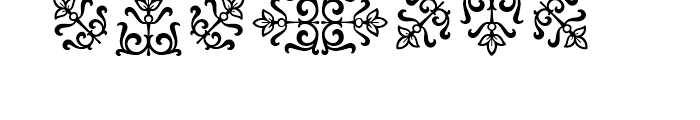 Goudy Borders Font OTHER CHARS