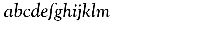 Goudy Catalogue Regular Italic Font LOWERCASE