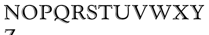Goudy Handtooled Handtooled Font UPPERCASE